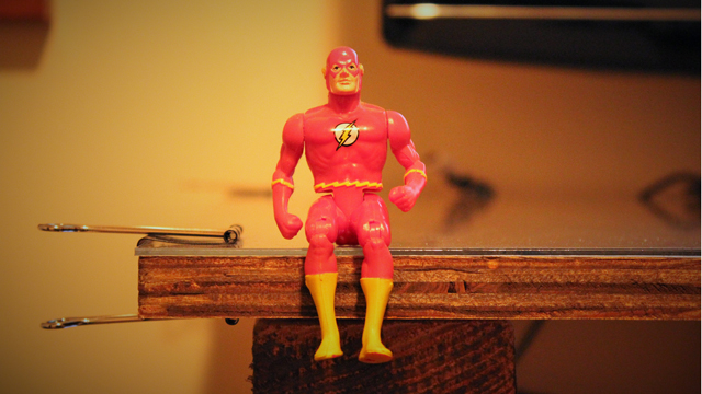 Flash action figure.