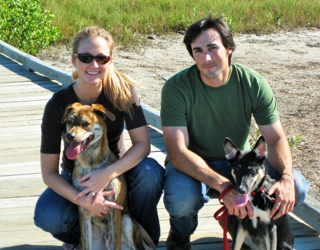 Walking Robinson Preserve in Bradenton, FL with our dogs.