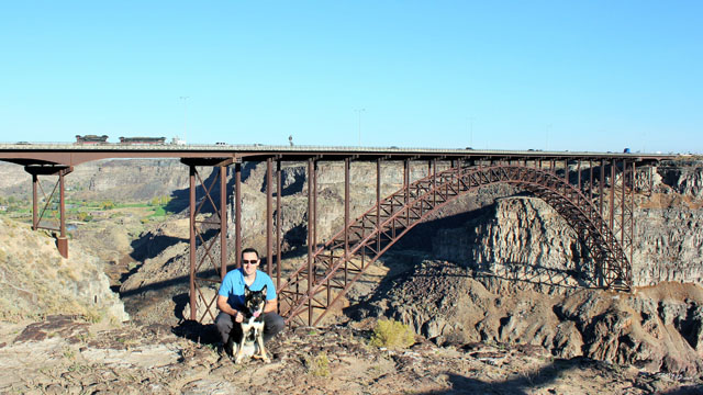 Hiking Snake River Canyon with my dog.